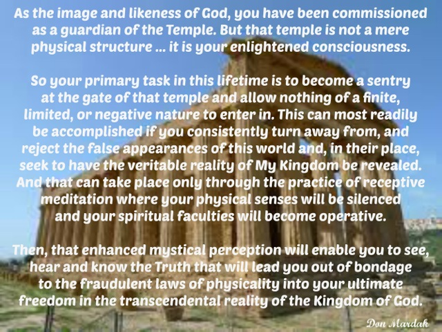 AS the image and likeness of God, you have been commissioned