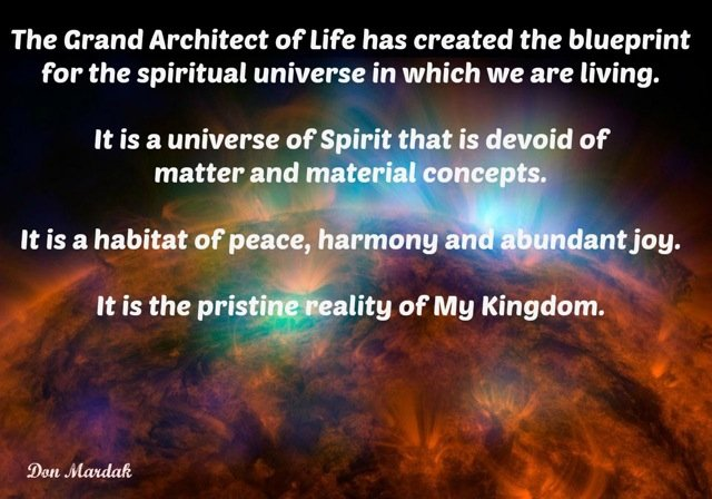 The Grand Architect of Life has created the blueprint
