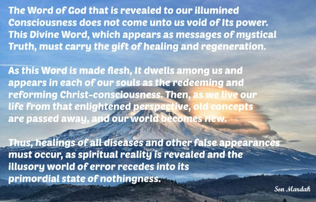 The Word of God that is revealed to our illumined