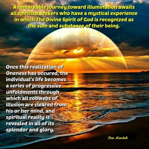 A remarkable journey toward illumination awaits all spiritual seekers who have a mystical experience