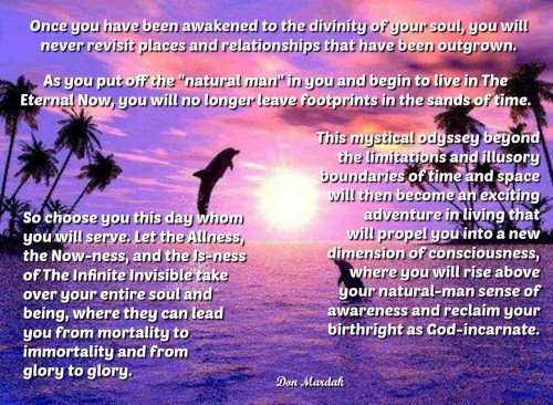 Once you have been awakened to the divinity of your soul, you will never revisit places