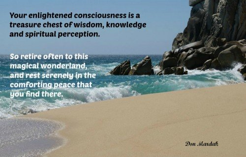 Your enlightened consciousness is a treasure chest of wisdom