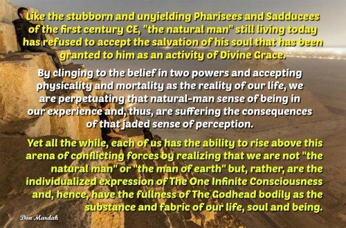 Like the stubborn and unyielding Pharisees and Sadducees of the first century CE