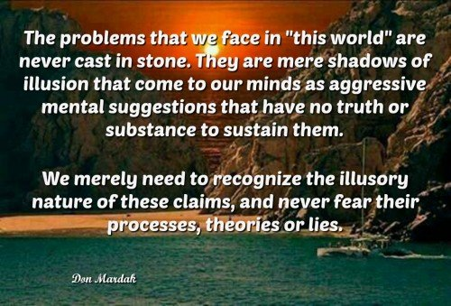 The problems that we face in this world are never cast in stone
