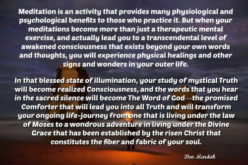 Meditation is an activity that provides many physiological and psychological benefits