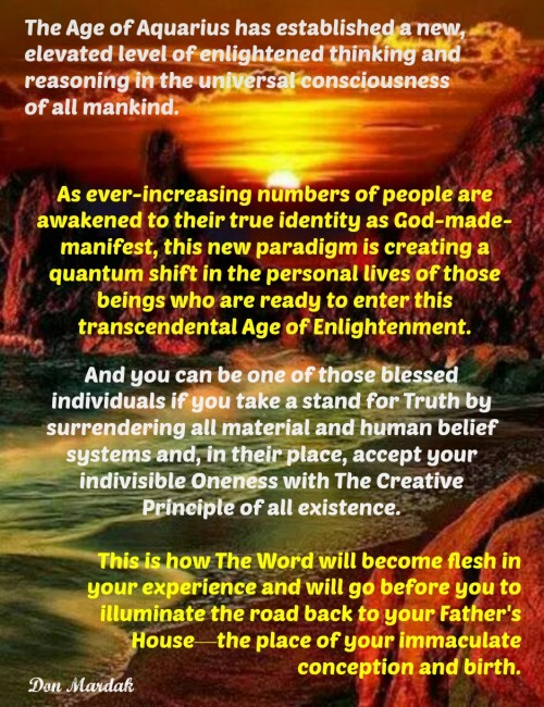 The Age of Aquarius has established a new, elevated level of enlightened thinking