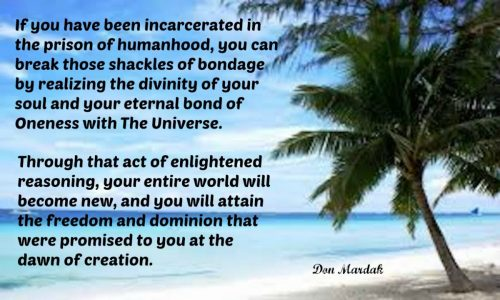 If you have been incarcerated in the prison of humanhood