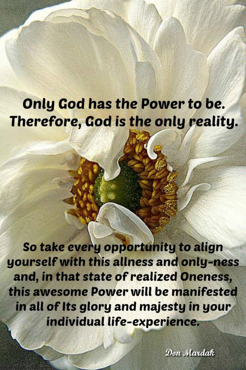 Only God has the Power to be