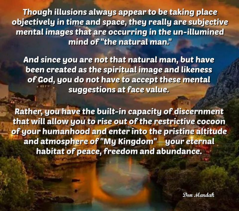Though illusions always appear to be taking place objectively in time and space