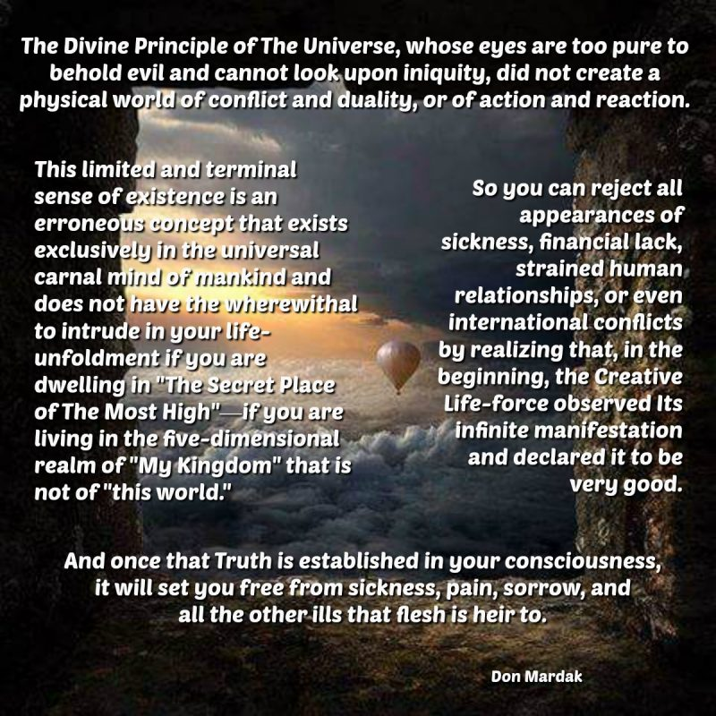 The Divine Principle of The Universe, whose eyes are too pure to behold evil