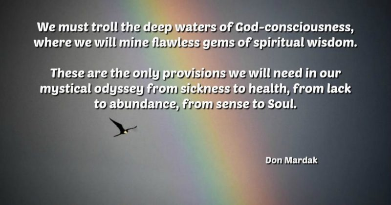 We must troll the deep waters of God-consciousness