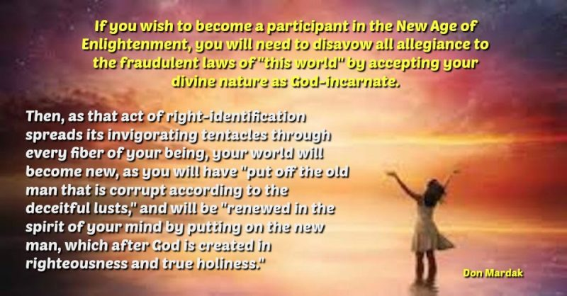 If you wish to become a participant in the New Age of Enlightenment