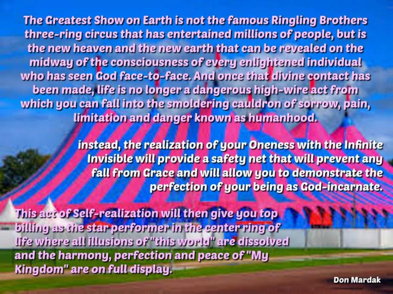 The Greatest Show on Earth is not the famous Ringling Brothers three-ring circus