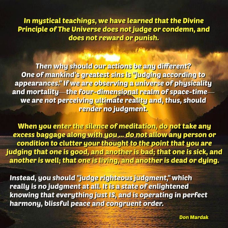 In mystical teachings, we have learned that the Divine Principle