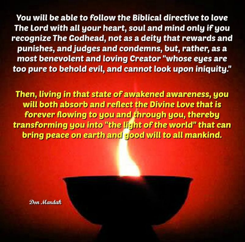 You will be able to follow the Biblical directive to love The Lord with all your heart